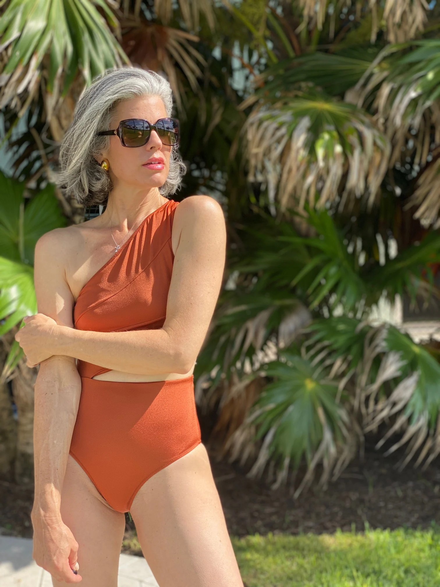 Making a Statement with One-Shoulder Bathing Suits