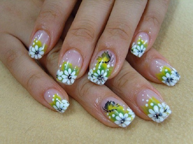 Spring Flower Nail Art Designs