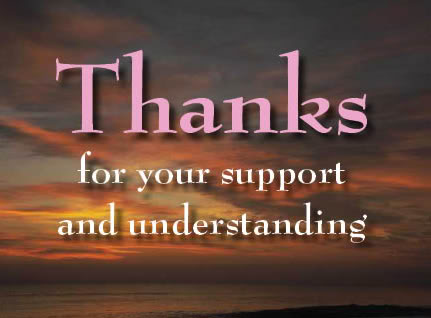 Thank You For Understanding