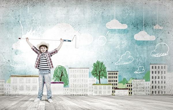 Ideen und Inspiration fr die Kinderzimmer Wandgestaltung  FRESHDADS Vter  Helden  Idole