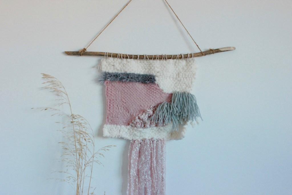 Wandteppich in rosa/grau