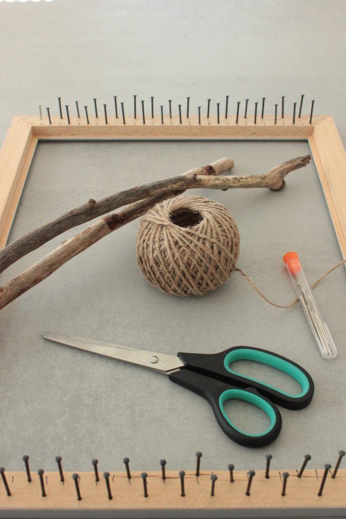 Webrahmen erstellen und Wandteppich weben