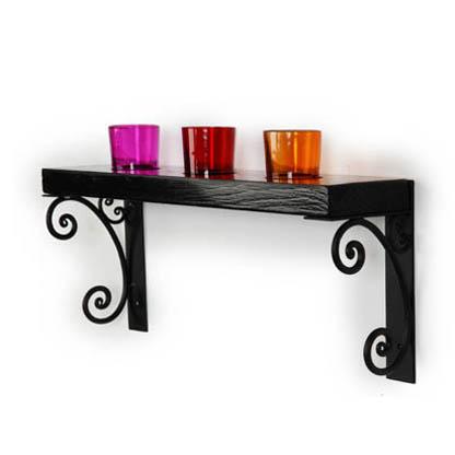 Black candle holder rack