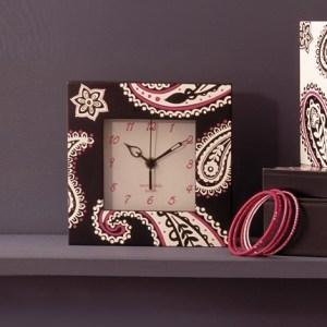 Bombay Duck paisley clock