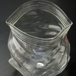 Glass plastic bag bowl