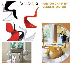 Iconic Panton moulded chair