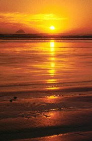 Inspiring sunset sky