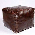 Stuff it yourself leather footstool