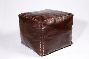 Alkina leather footstool