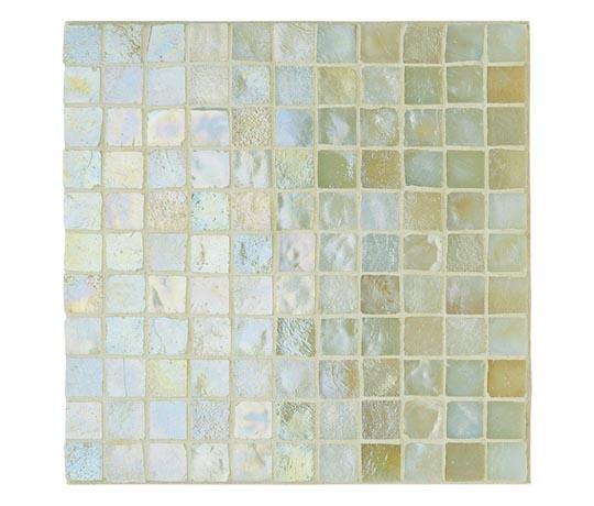 Fired Earth iridescent glass mosaic tiles