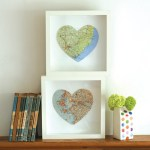 Personalised bespoke map heart art