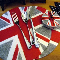 Union Jack felt placemats