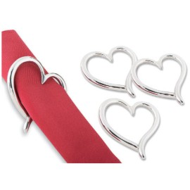 Amore heart toast rack and napkin rings