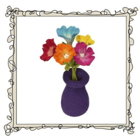 Fairtrade felt Fuzzy Fleurs from Love Eco