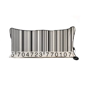 Funky barcode cushion