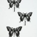 Black butterfly hooks