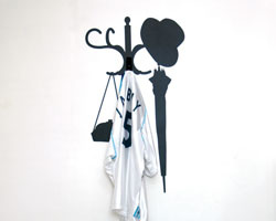 Coat stand functional wall sticker
