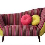 Stripy contemporary chaise longue