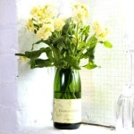Champagne bottle vase