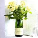 Champagne bottle vase