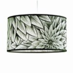 Black and white dahlia lampshade