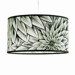 Black and white dahlia lampshade