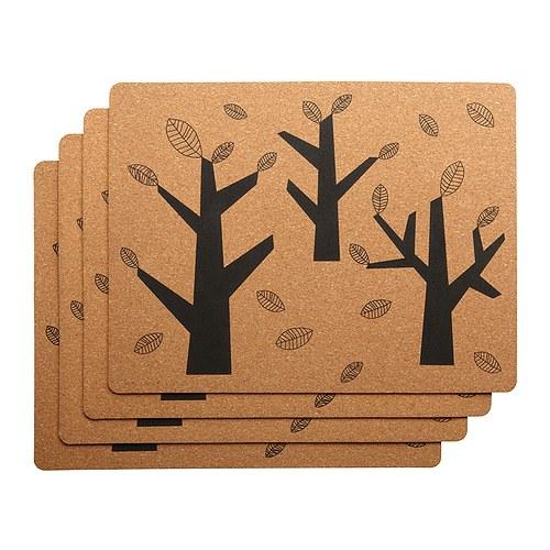 Ikea Tyst cork place mats