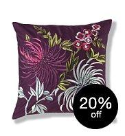 Gorgeous purple silk cushion