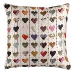 Ella Doran silk hearts cushion
