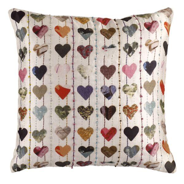 Ella Doran silk hearts cushion