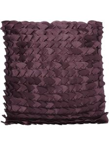 On trend berry purple fan cushion from House of Fraser