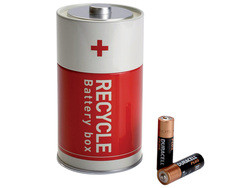 Collect used batteries to be recycled