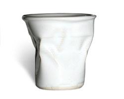 Ceramic crushed cup by designer Rob Brandt