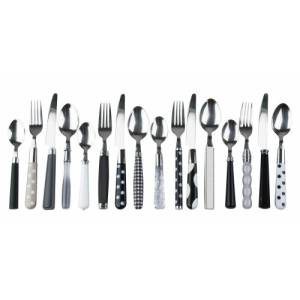 Fun eclectic monotone mix and match cutlery set