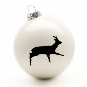 Contemporary cream deer bauble