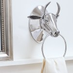 Aluminium bull towel ring