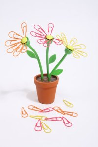Practical and fun daisy desk paperclip storage organiser