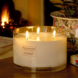 Luxury three wick Christmas winter candle