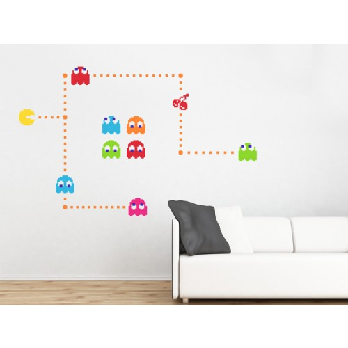 Pacman retro wall stickers