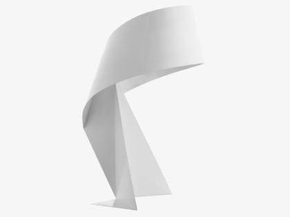 Habitat white ribbon table lamp reduced
