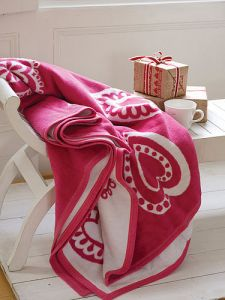 Contemporary fleece blanket for the home
