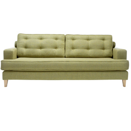Olive green Mistral sofa from Heal's