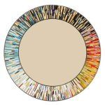 Contemporary handmade rolled art glass mosaic mirror