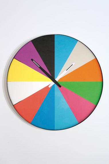 Thomas Bucheim multicoloured flat and quiet clock