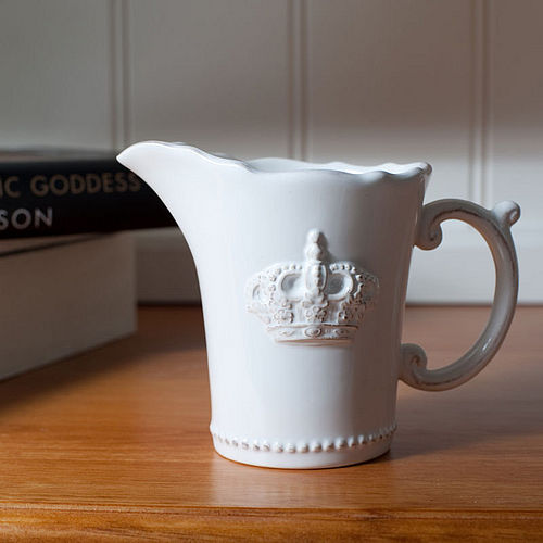 Crown embossed milk jug from The Orchard