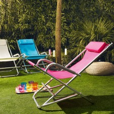 Contemporary garden furniture rocking deck chair
