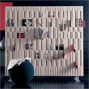 Soft felt wall storage room divider