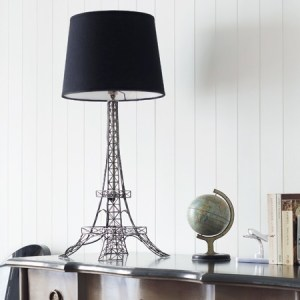 French Eiffel Tower design lamp and lampshade