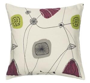 Perpetua cushion designed by Sanderson