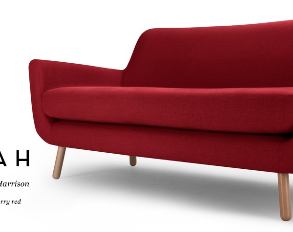 Jonah two seater red sofa from Made